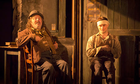 Pat Shortt and Daniel Radcliffe in The Cripple of Inishmaan, Noel Coward, London